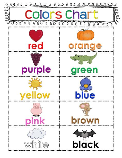 what color are my chart adventures in kindergarten september 2012