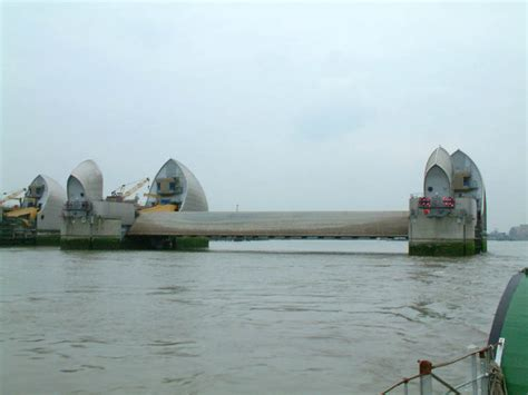 thames barrier opening paddle steamer on the thames