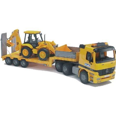 bruder toys mercedes bruder 02655 mercedes benz actros low loader truck with