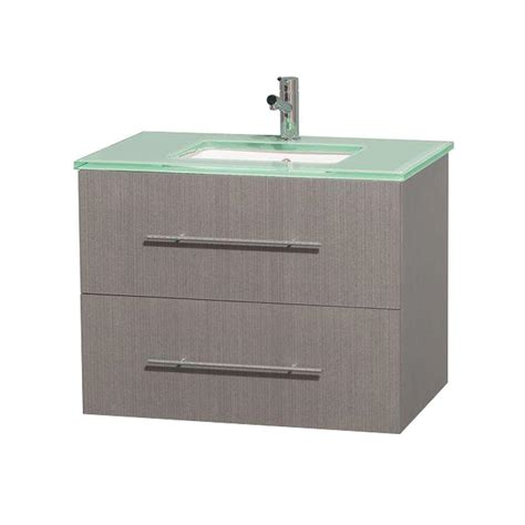 Green Vanity Top by Wyndham Collection Centra 30 In Vanity In Gray Oak With