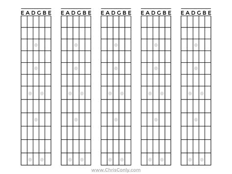fret scale template blank guitar fretboard diagram blank free engine image