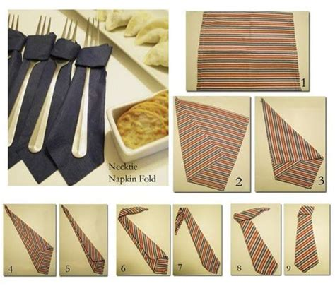 Creative Ways To Fold Paper Napkins - tie napkin folding entertaining s
