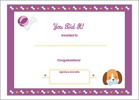 you did it printable award certificate lottie dolls
