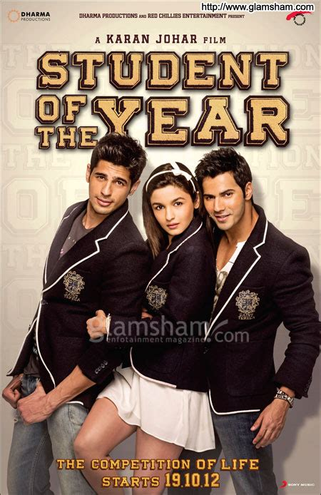 recommended films for film students student of the year movie poster 2 glamsham com