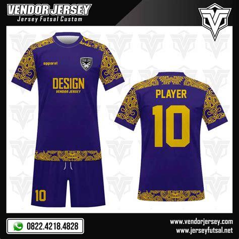 desain kaos futsal 2017 desain kaos futsal motif batik di lengan vendor jersey