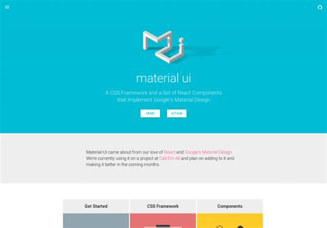 google design material framework material ui css framework and react components tool based