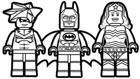 Batman and wonder woman coloring page printable sheet the lego colouring page for children