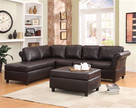 Sectional Furniture Sets by Homelegance Levan Sectional Sofa Set Brown Bi Cast