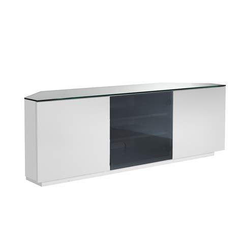 white corner tv cabinet ukcf milan white gloss black glass corner tv stand 150cm