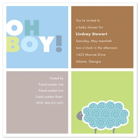 Baby Shower Invitation For Boy by Baby Shower Invitations Baby Boy Squares At Minted