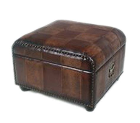 Leather Stool Ottoman New Ottoman Rectangle Storage Bench Leather Brown Seat Faux Stool Foot Furniture Ebay