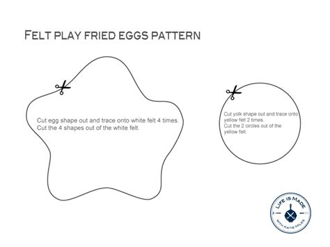 felt egg pattern diy felt play food fried eggs life is made with katie miles