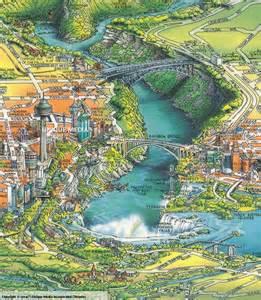 see overview of the niagara falls map niagara falls ny