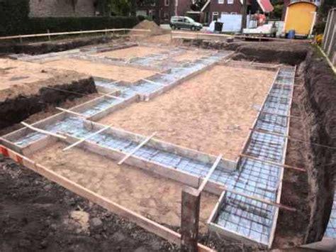 beton laten storten voor tuinhuis je eigen huis movie 003 uitzetten fundering youtube