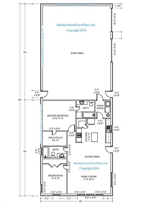 Ordinary 2 Story Pole Barn House Plans #2: Metal-building-floor-plan-unbelievable-house-half-size-barndominium-30x80-designs-plans-plus-much-728x1029.jpg