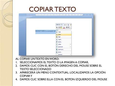 copiar texto dos metodos para copiar texto de un manual para la elaboraci 243 n de documentos electr 243 nicos en word