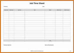 8 Job Sheet Template Free Ledger Paper