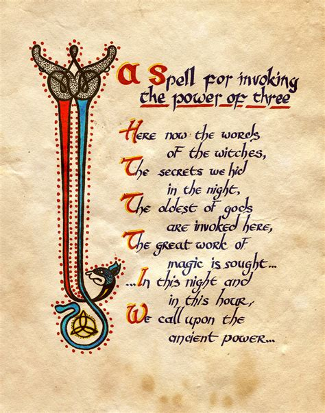 a spell for invoking the power of three by charmed bos on