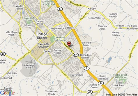 texas college map map of college station days inn bryan college station