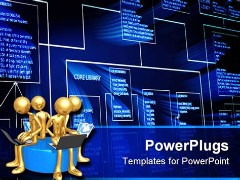 powerpoint templates computer theme programming algorithm block success result
