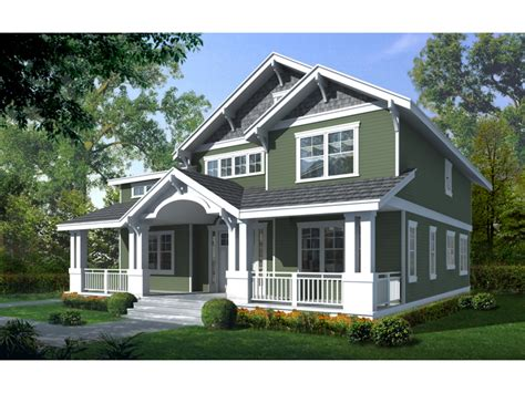 home plans with front porches craftsman bungalow house two story craftsman house plan