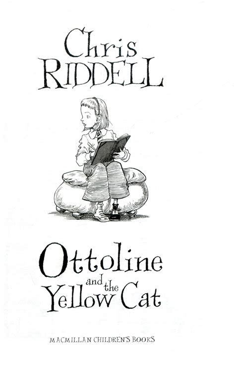 ottoline and the yellow cat by riddell 9780330450287 brownsbfs