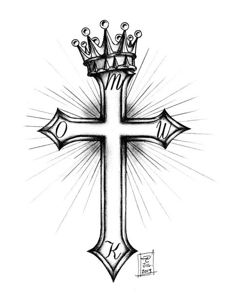 crown cross tattoos cross and crown by morobles on deviantart