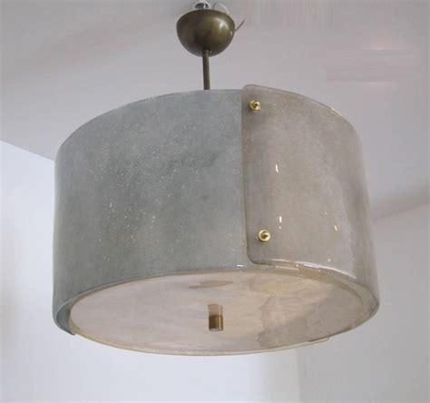Glass Drum Chandelier textured murano glass drum chandelier at 1stdibs