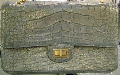 Chanel Crocodile 255 by Chanel Sueded Alligator 2 55 Snob Essentials