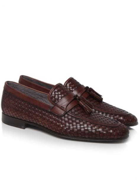 woven leather loafers saks fifth avenue woven leather loafers in brown for