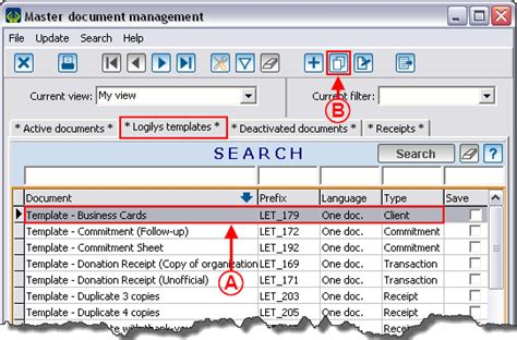 document master list template prodon duplicating a master document logilys