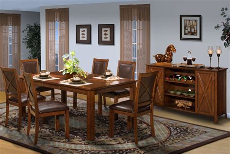 aspen standard rectangular extendable dining room set from