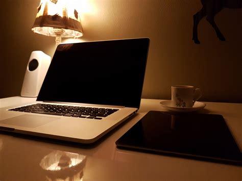 Livingroom Cafe Free Images Laptop Desk Computer Macbook Table