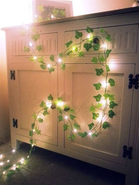 Details about Green Ivy leaf garland mini led fairy string