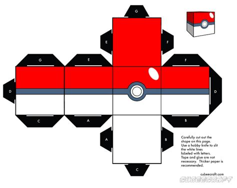 Papercraft Pokeball - cubecraft papercraft pokeball papercraft toys
