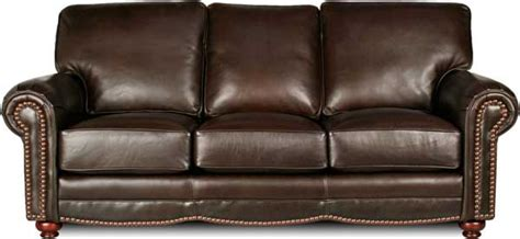 traditional brown leather sofa leather creations furniture custom leather furniture in