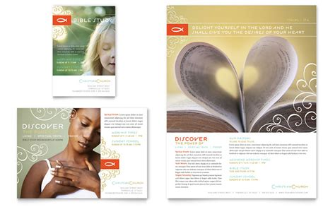 Christian Church Religious Flyer Ad Template Word Publisher Church Brochure Templates