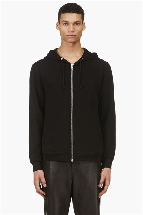 Zipper Hoodie Electronic 03 lyst blk dnm black front to back zipper hoodie in black for