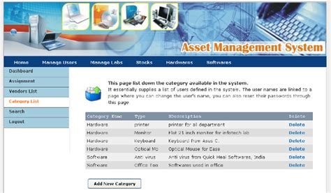 asset management system sourceforge net