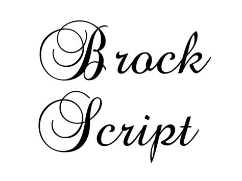 Wedding Font Brock Script by Fancy Calligraphy Font Squirel Brock Script Da Font