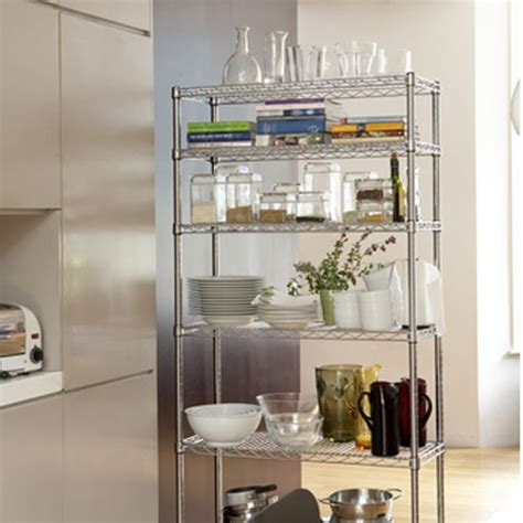 shelving ideas for kitchens chrome kitchen rack from the holding company kitchen