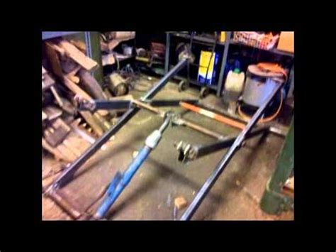 homemade portable hydraulic vehicle scissor lift youtube