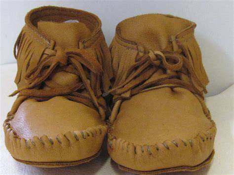 Mens Handmade Moccasins - leather elkskin moccasins handmade size 11 rendezvous