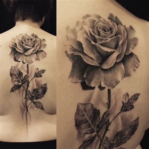 realistic flower tattoo designs realistic flower back by allen