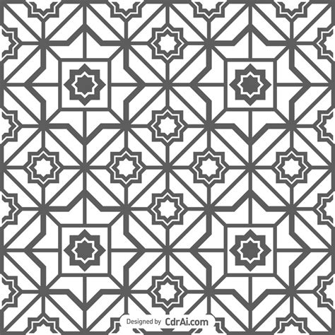 arabic pattern ai geometric arabic seamless pattern free download cdr ai eps