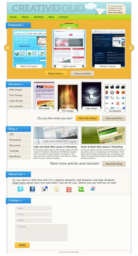 web design layout techniques 50 best website interface photoshop tutorials hongkiat