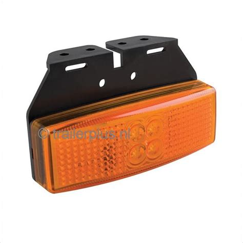 led len direct nl zijmarkering led oranje 12v 24v incl voetje