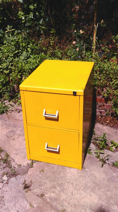 Yellow Metal Filing Cabinet Vintage Yellow Metal Filing Cabinet Haute Juice