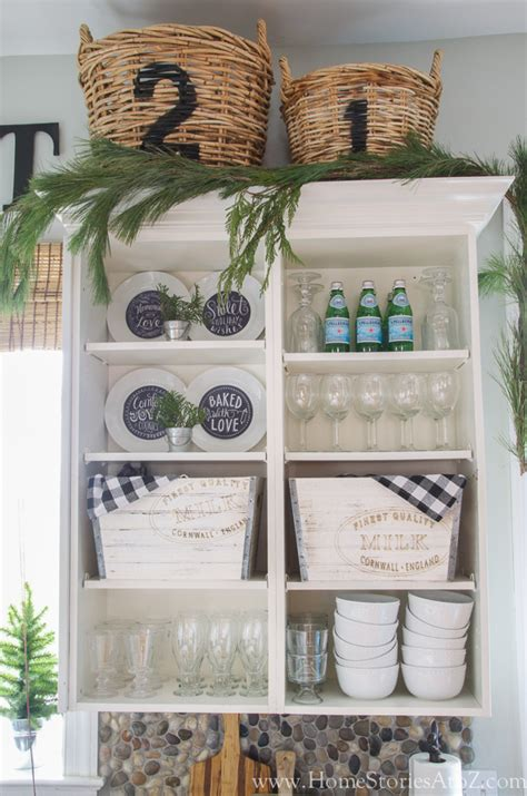 how to decorate shelves home stories a to z christmas kitchen decorating home stories a to z