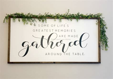 gather sign dinning room sign oversized sign large dining